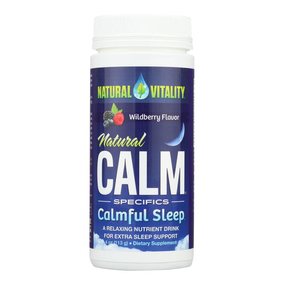 Natural Vitality's Natural Calm Specifics Calm Sleep With Natural Wildberry Flavor  - 1 Each - 6 Oz - Vita-Shoppe.com