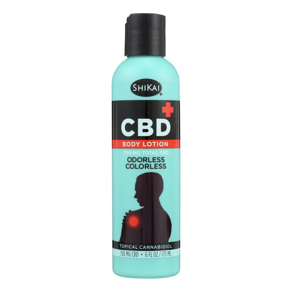 Shikai Products - Body Lotion CBD - 1 Each - 6 Fz - Vita-Shoppe.com