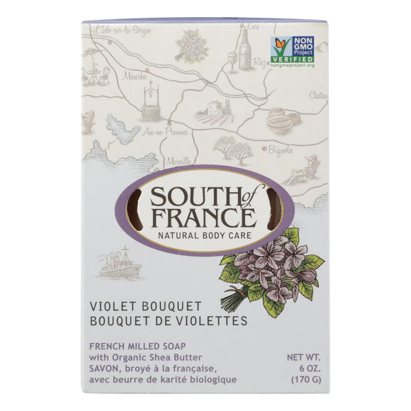 South Of France - Bar Soap Violet Bouquet - 1 Each - 6 Oz - Vita-Shoppe.com