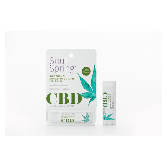 Soulspring - Lip Balm Euclypt Mint Cbd - Ea Of 1-.15 Oz - Vita-Shoppe.com
