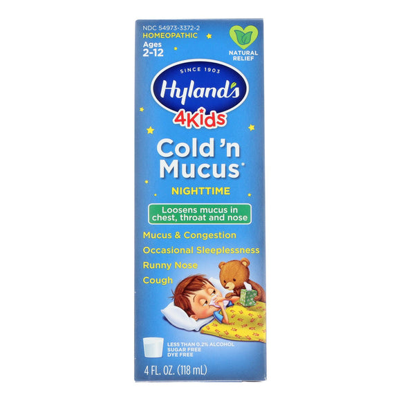 Hyland's - 4kids Cld N Mucus Nghttme - Ea Of 1-4 Fz - Vita-Shoppe.com