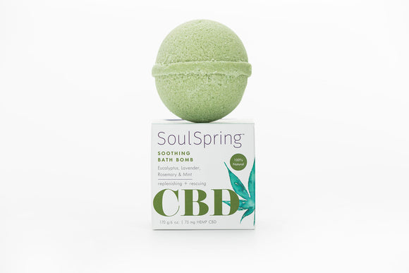 SoulSpring - Bath Bomb Soothing CBD - 6 Oz - Vita-Shoppe.com