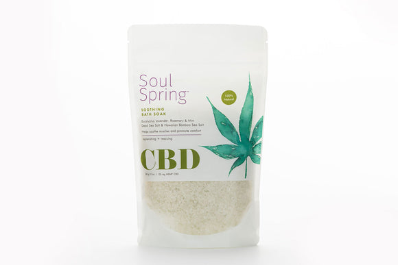 SoulSpring - Bath Soak Soothing CBD - 12 Oz - Vita-Shoppe.com