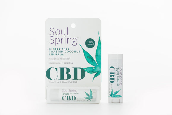 SoulSpring - Lip Balm Stree Free Toasted Coconut CBD - Ea Of 1-.15 Oz - Vita-Shoppe.com