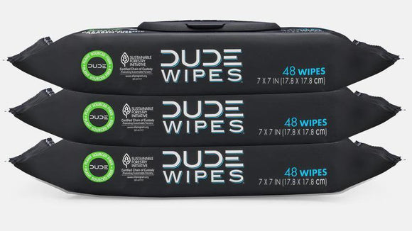 Dude Wipes - Wipes Dispenser Pack - 48 Ct.- Flushable - Fragrance Free