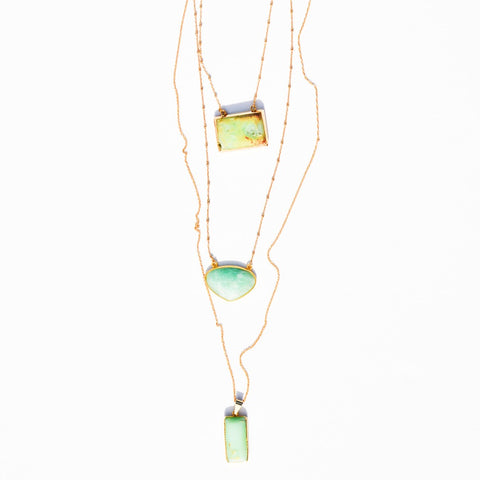 Iridescent CZ pendant necklace