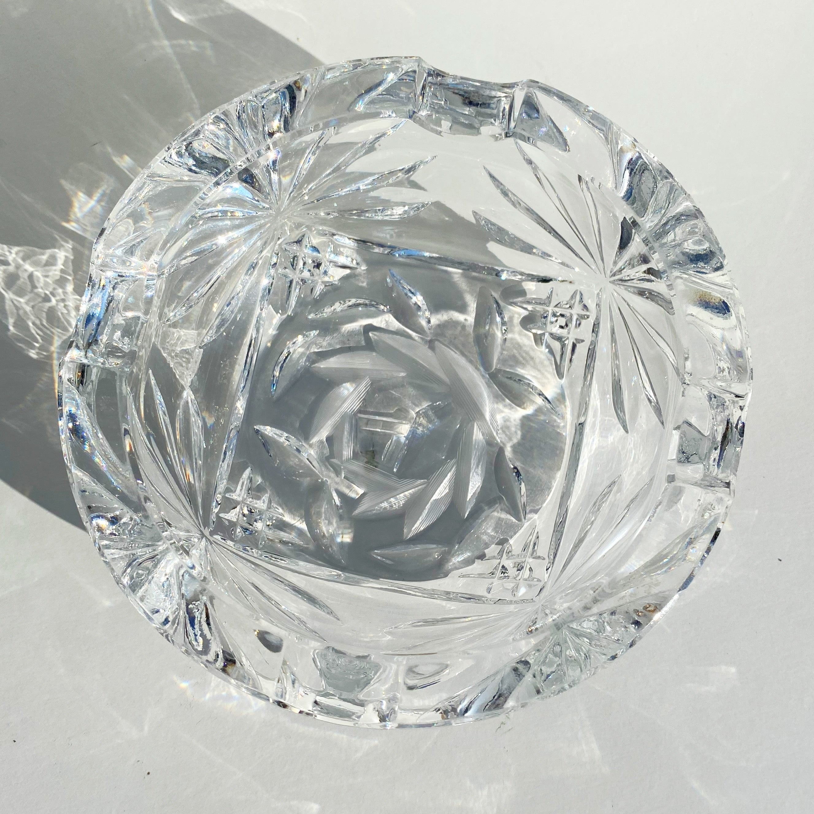 Vintage Rose Glass Dish
