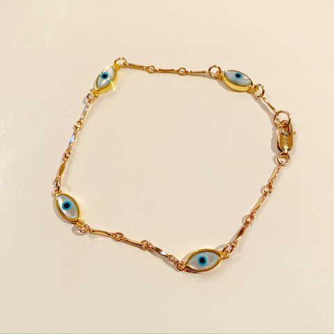 Toula - Blue + Rose Gold