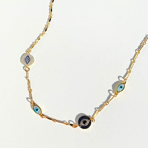 Silver Drusy Layered Necklaces