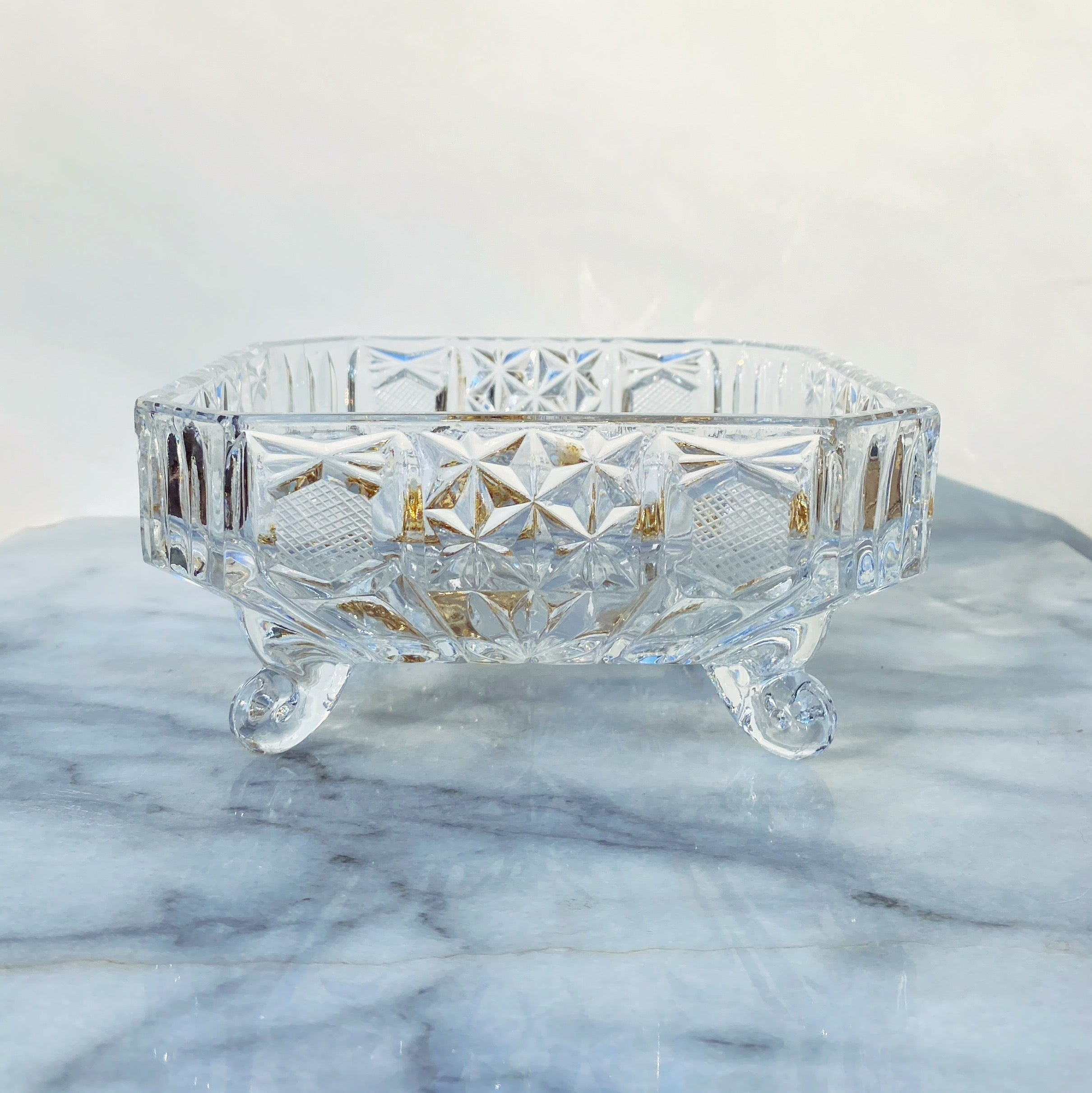 Vintage Glass Jewelry Bowl
