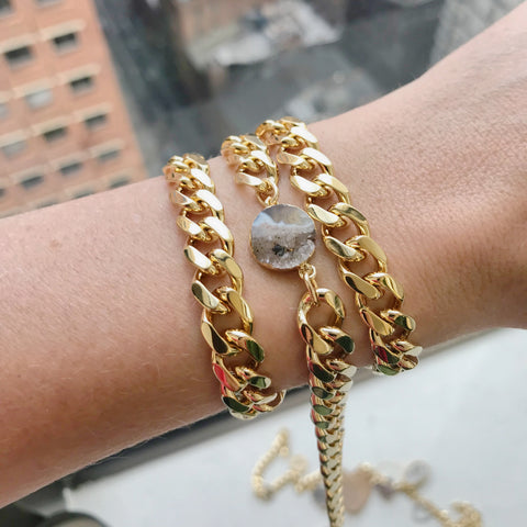 Gold + Blue Evil Eye