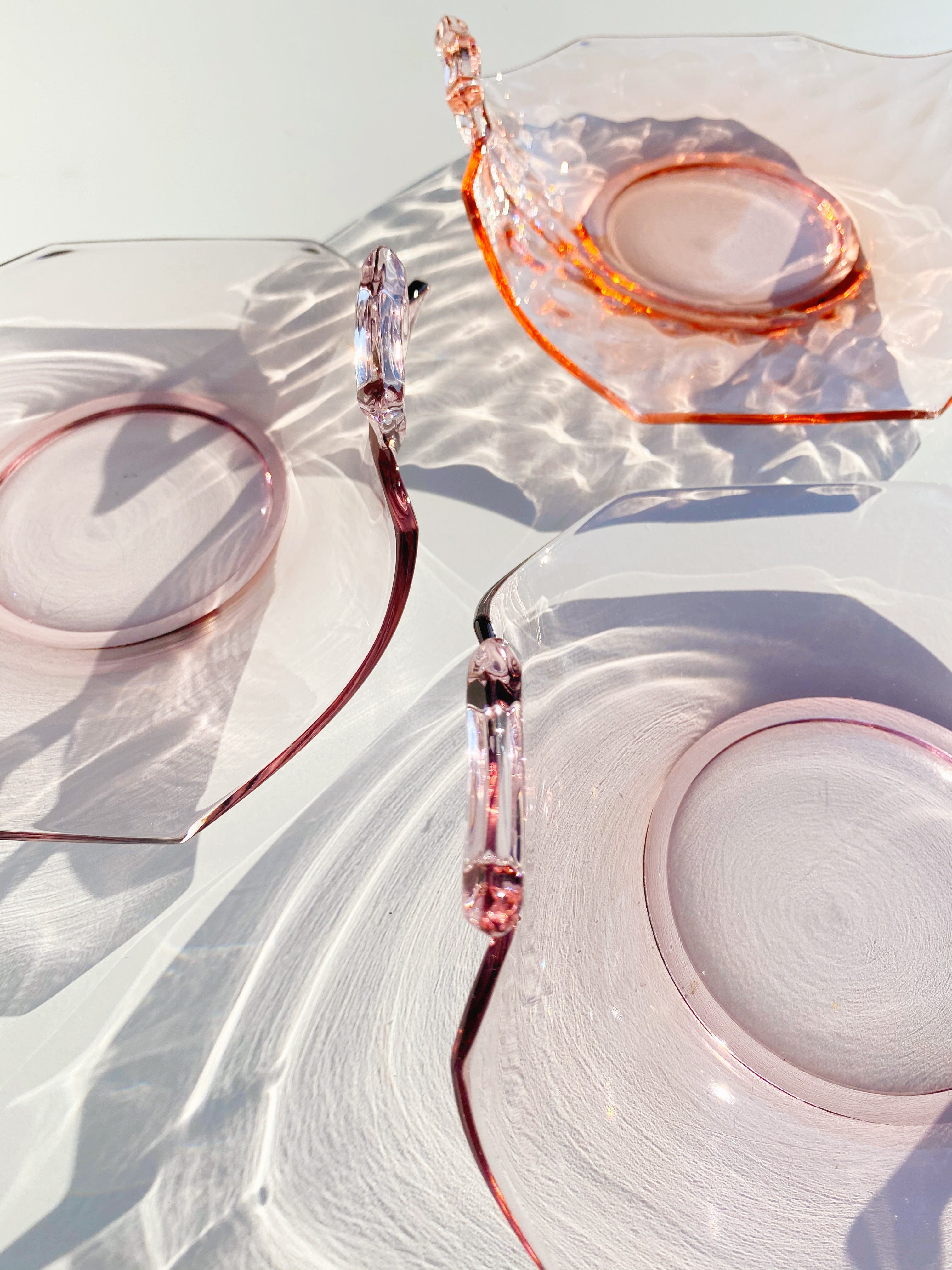 Vintage Pink Glass Tray
