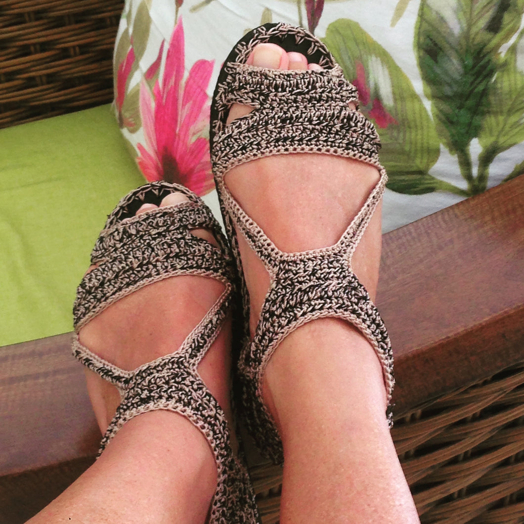 Woman Crochet Sandals GUAYABA by GiGi