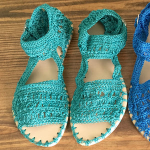 Woman Crochet Sandals LAMBADA2 by GiGi