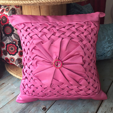 Handmade Cushion Covers DRAPEADO with Jewel Decoration - artesania RD