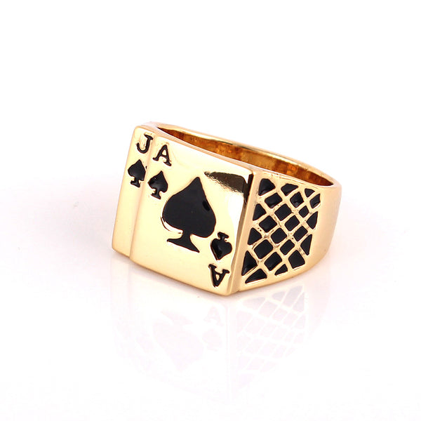 Bague Poker Gold