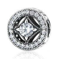 Charm argent strass