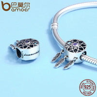 Charm argent dream catcher