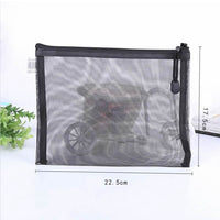 Sac Zipper Make Up Organisateur noir transparent