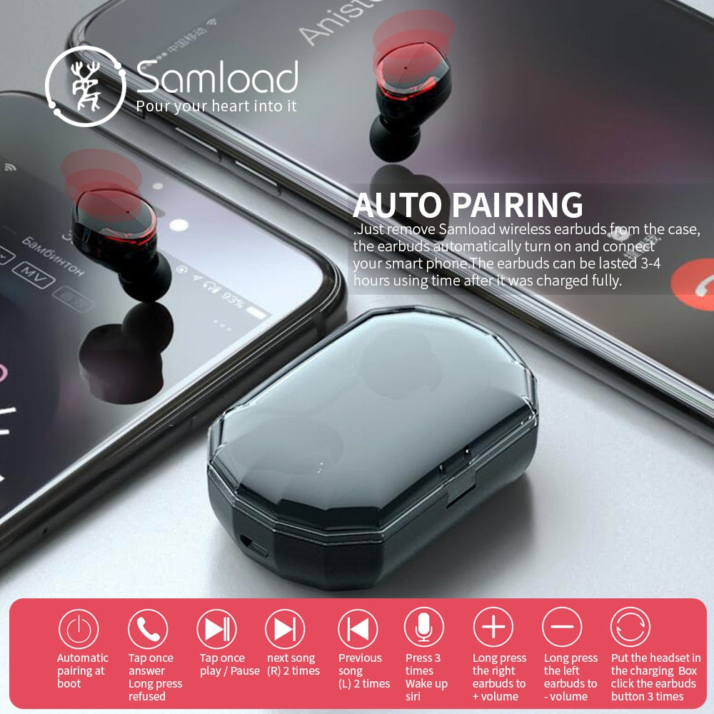 Ecouteurs Bluetooth Samload