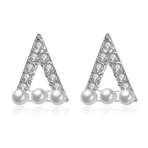 Boucles d'oreilles triangle strass