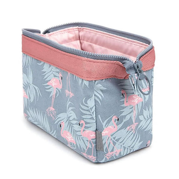 Trousse de toilette motif flamant rose