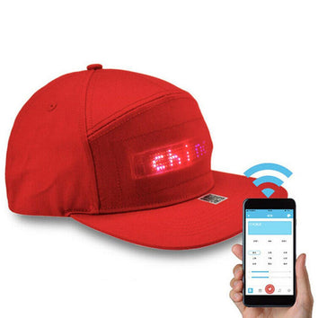 Casquette LED bluetooth Programmable