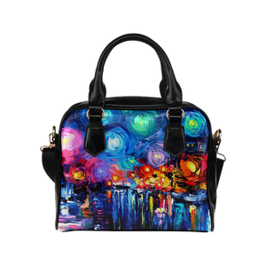 Oil Painting Shoulder Handbag (Model 1634)