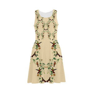 Hummingbird And Flowers Atalanta Sundress (Model D04)