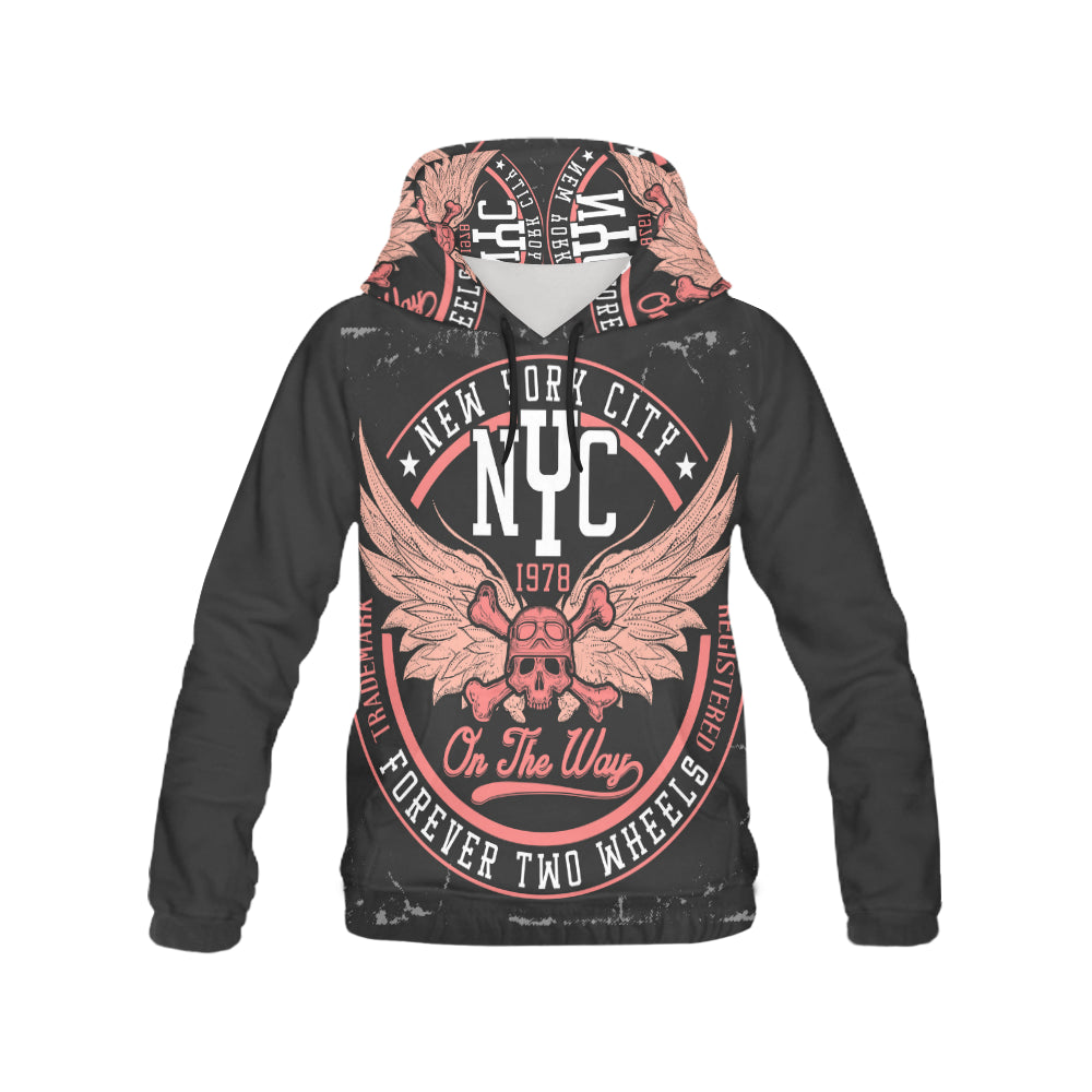 new york city All Over Print Hoodie for Men (USA Size) (Model H13)