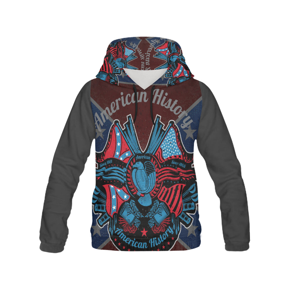 american history All Over Print Hoodie for Men (USA Size) (Model H13)