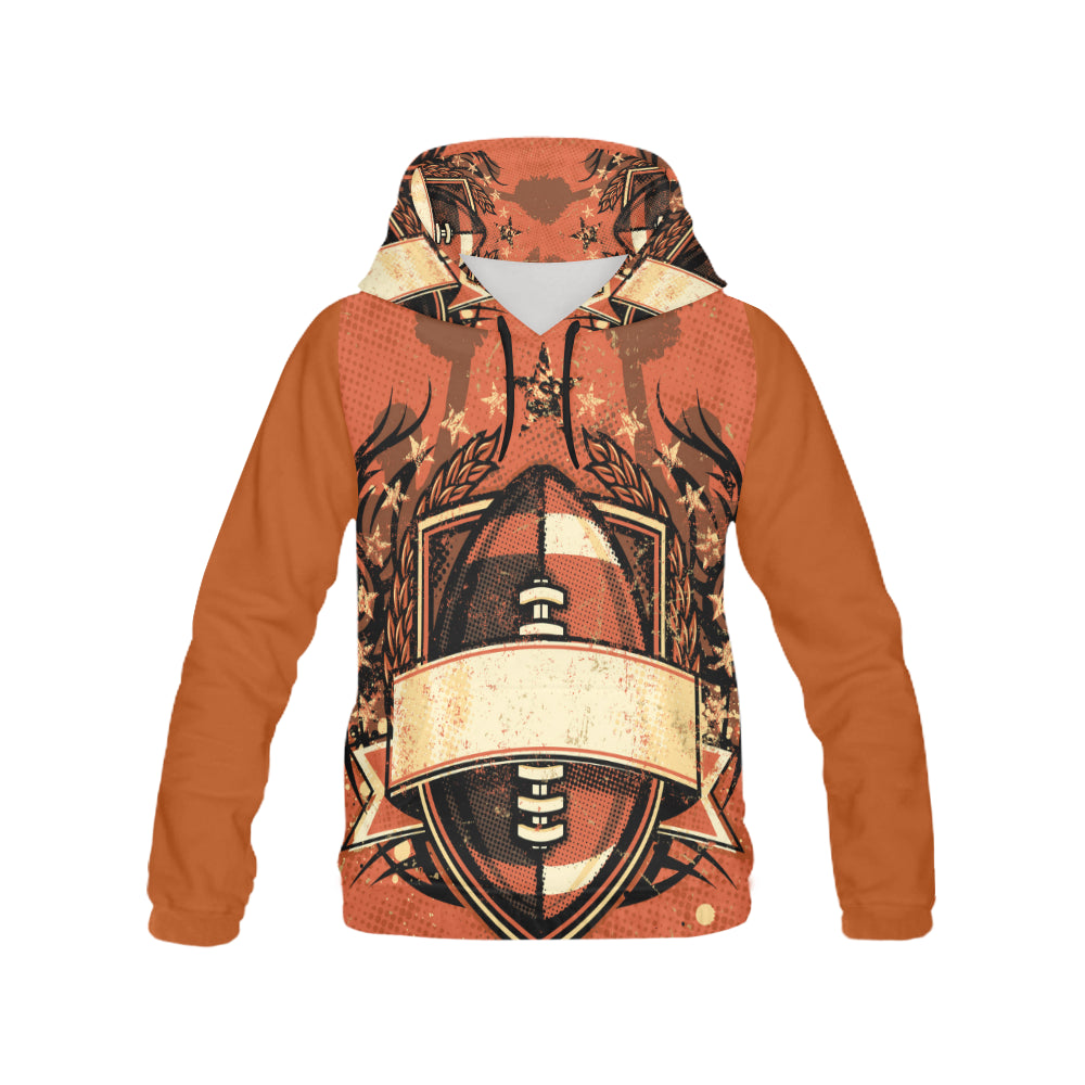 football All Over Print Hoodie for Men (USA Size) (Model H13)