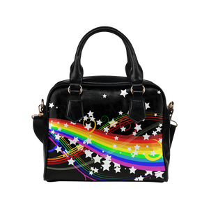 Colorful Rainbow and Flower Shoulder Handbag (Model 1634)
