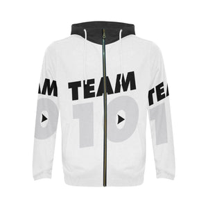 Jake Paul Team 10 All Over Print Full Zip Hoodie for Men