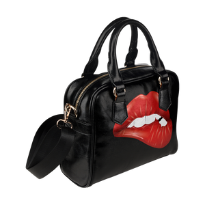 Red Lip Shoulder Handbag (Model 1634)