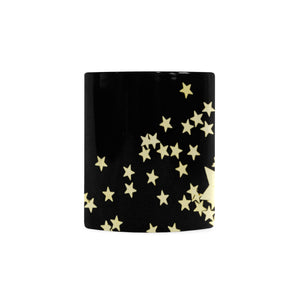 Black Golden Stars White Mug(11OZ)