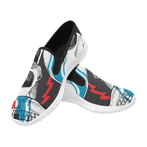 a racer skull Orion Slip-on Men's Canvas Sneakers (Model 042)