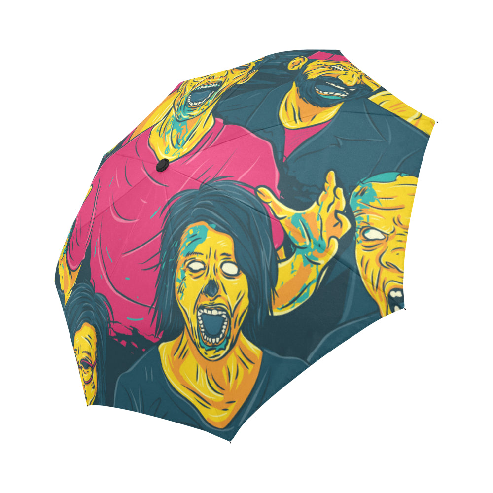 Zombie Walking Out Auto-Foldable Umbrella