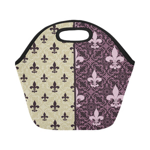 Fleur de lis Neoprene Lunch Bag/Small (Model 1669)