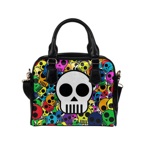 Colorful Skulls Shoulder Handbag (Model 1634)