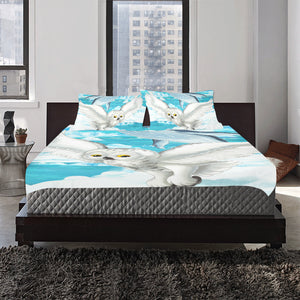 owl and whale 3-Pieces Bedding Set