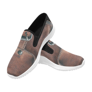 leather bag Orion Slip-on Men's Canvas Sneakers (Model 042)