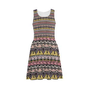 Bohemian Art Painting Atalanta Sundress (Model D04)