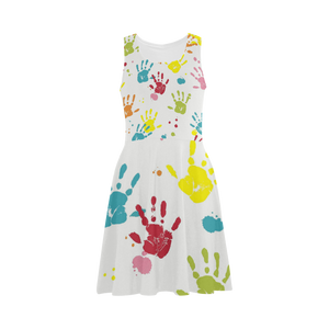 Colorful Handprint Atalanta Sundress (Model D04)