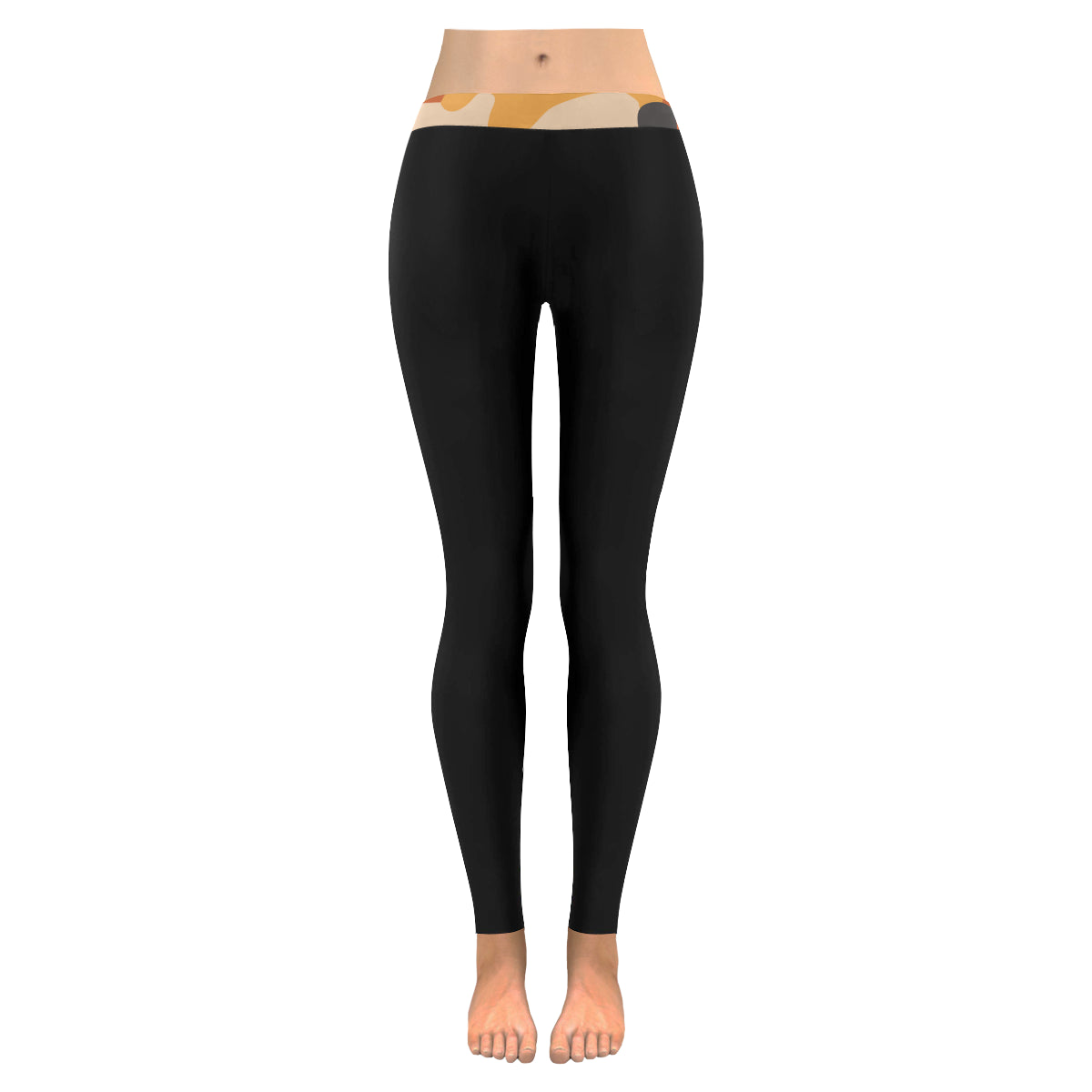 Fall Feel Trimmed Low Rise Leggings (Invisible Stitch) (Model L05)