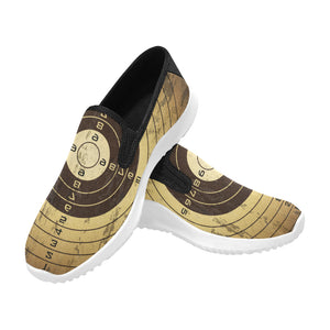 bullet holes Orion Slip-on Men's Canvas Sneakers (Model 042)