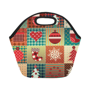 Christmas Neoprene Lunch Bag/Small (Model 1669)