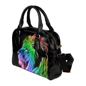 Colroful Lion Shoulder Handbag (Model 1634)
