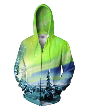 Arctic Nights Zip-Up Hoodie