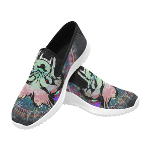 Wolf Orion Slip-on Men's Canvas Sneakers (Model 042)